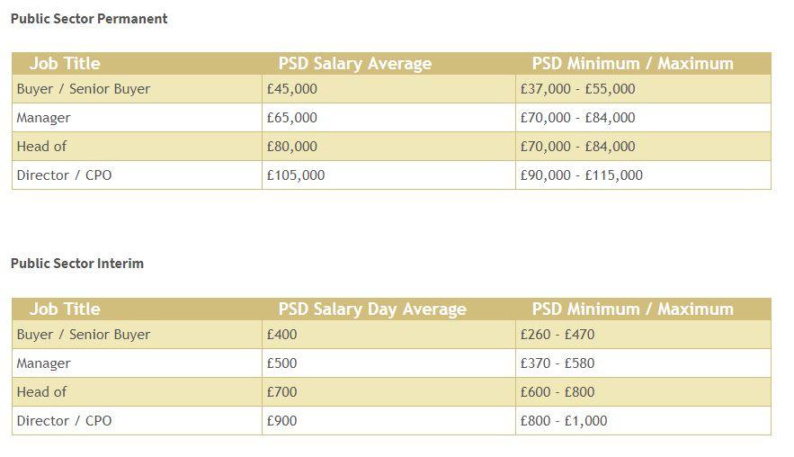 public sector procurement salary