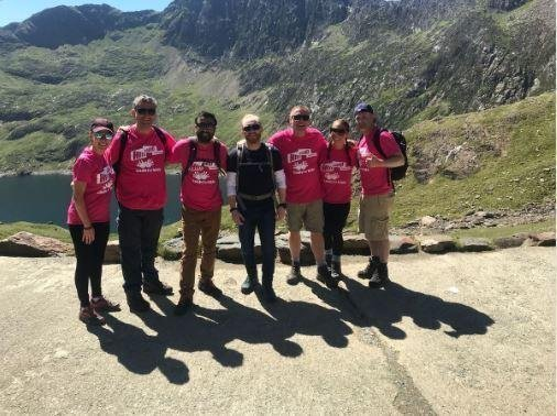climbing mt snowden for charity